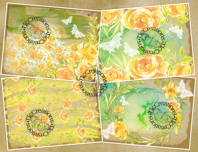Yellow and Green Equals Spring Printable Junk Journal Kit Scrapobook