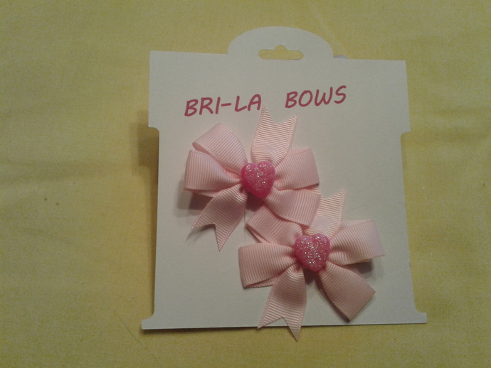 Heart hairbows