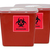 """BioHazard Decal 4"""" x 4"""" - For Waste, Waste Containers and Disposal Safety"""