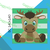 Baby Moose SC Crochet Pattern Graph, Written both text and color coded block