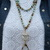 Big Glam Long beaded Double wrap Necklace with Pendant Hand Knot jewelry gifts