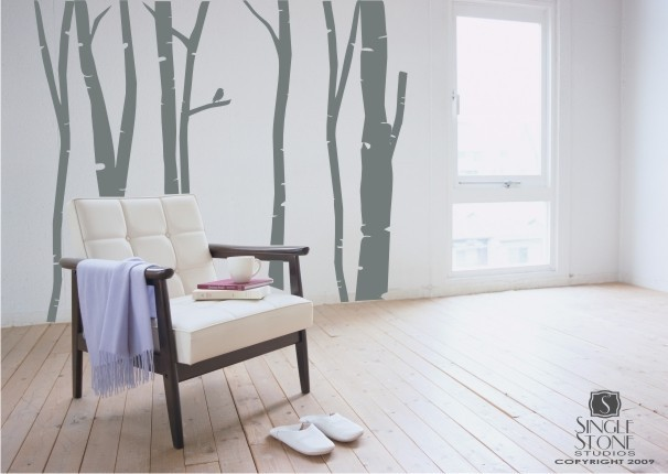 Birch Trees - Vinyl Wall Decals Graphic Art