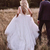 Country Satin A-Line Wedding Dresses  Bohemian Simple Backless Tulle Skirt