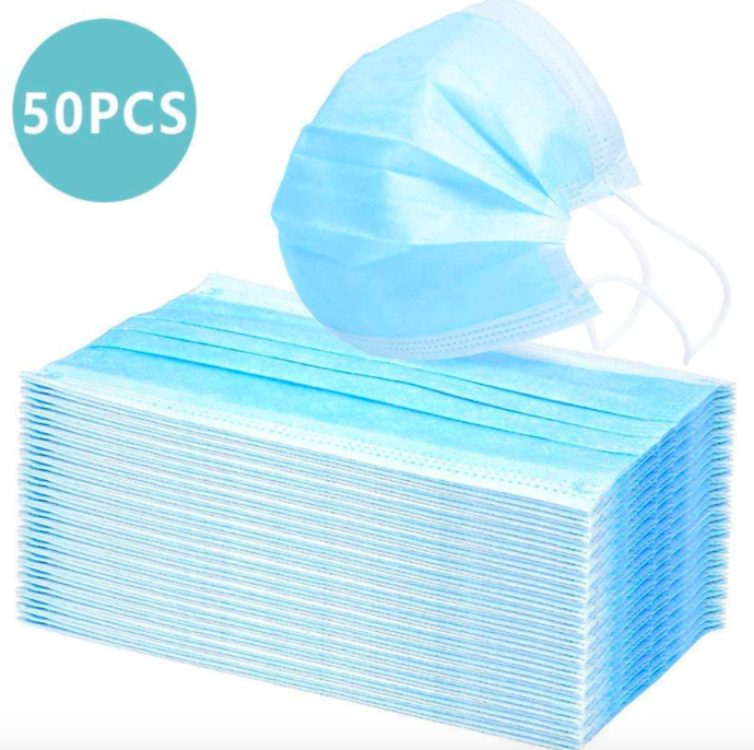 50PCS/pac Safe Surgical Medical Mask Anti Virus 3 layer Non-woven Disposable