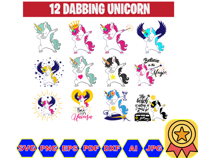 12 Dabbing Unicorn Svg Disney Monogram Bundle By Unoshopsvg On Zibbet