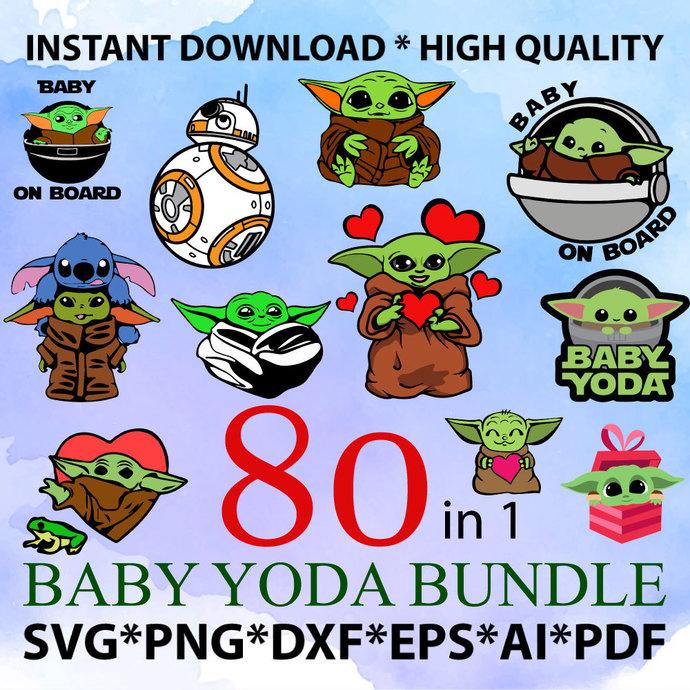 Baby Yoda SVG Bundle, Star Wars svg, Baby Yoda sticker, Baby Yoda Mug