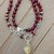 Garnet & Citrine Beaded Necklace Boho Glam by KnottedUp Ground into the Present