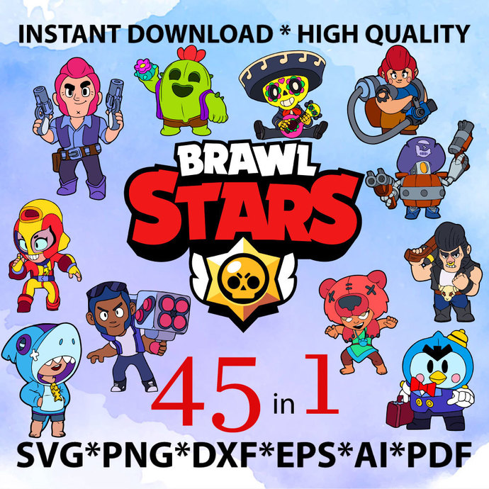 Brawl Stars SVG Vectors and Icons. HQ Brawl Stars transparent png images, icons