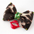 Peggy B Leopard Print Bow, Bow Ties for Cats, Cat Accessories, OOAK, Pet Fashion