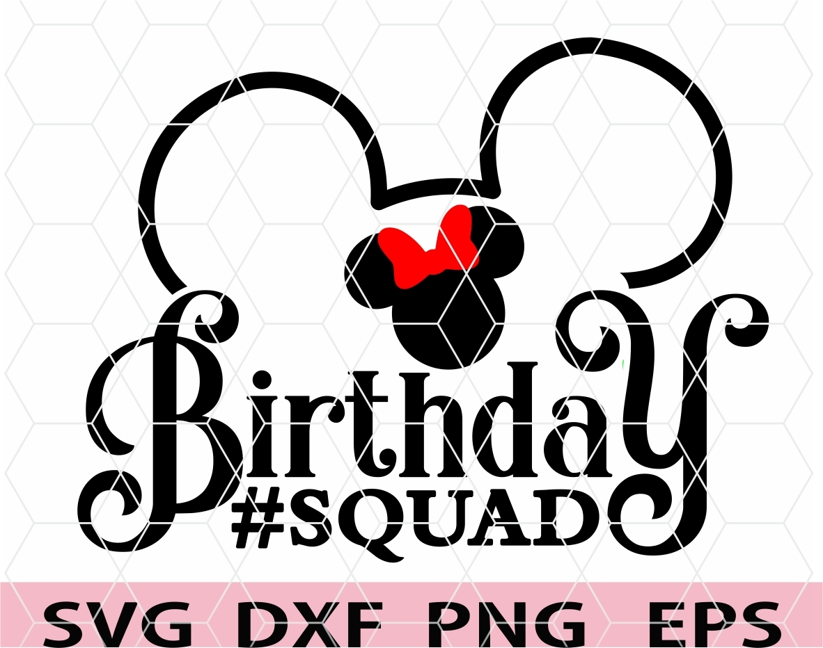 Digital Download Unicorn Birthday Squad Shirt Design Birthday Squad SVG DXF PNG