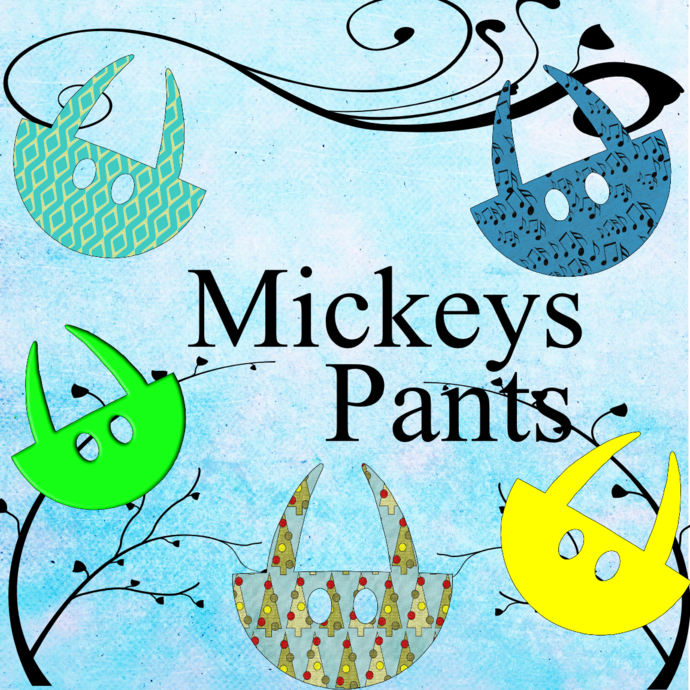 Color Mouse Pants4-Digital Clipart-Art Clip-Gift Cards-Banner-Gift Tag-Jewelry-T