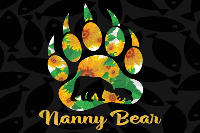 Nanny bear, nanny shirt, blessed nanny svg, nanny, nanny gift, nanny svg, gift