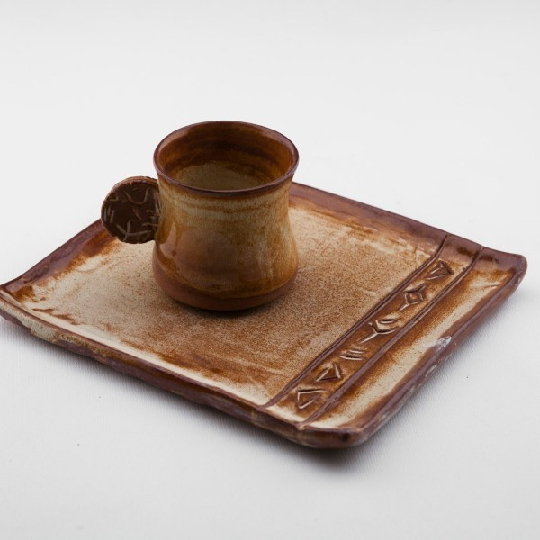 Troia Cup with plate