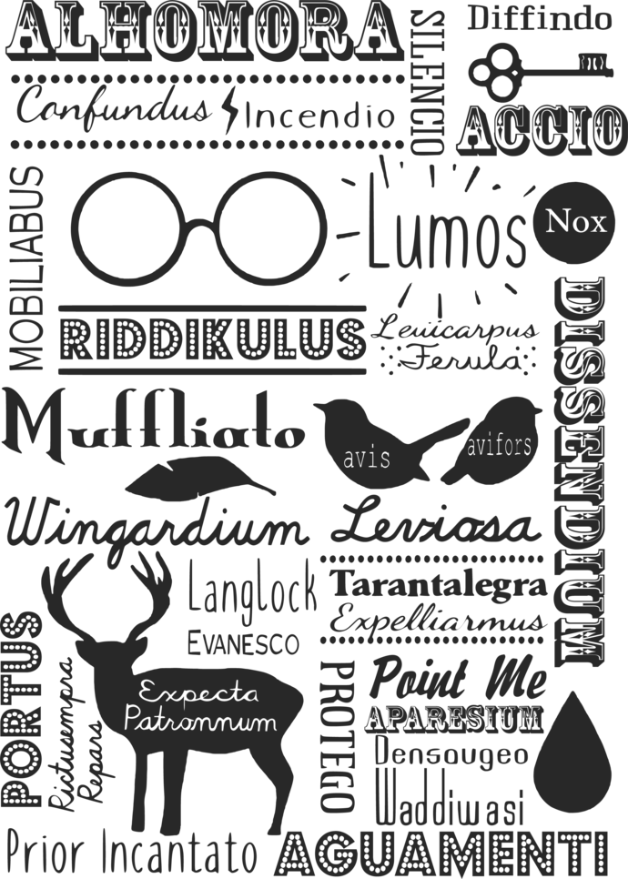 Harry Potter Illustrations, Magic Bundle Vector Graphic