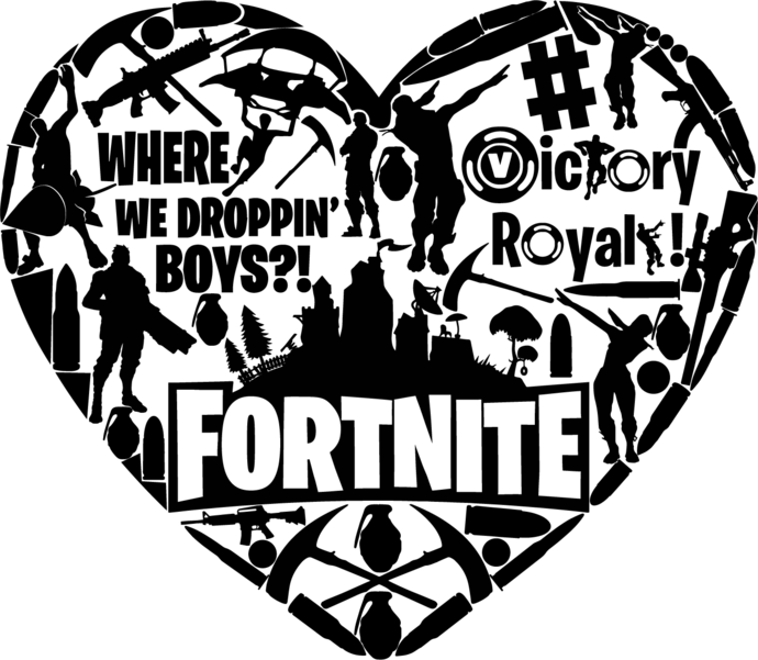 Fortnite Transparent SVG and PNG Clipart Download