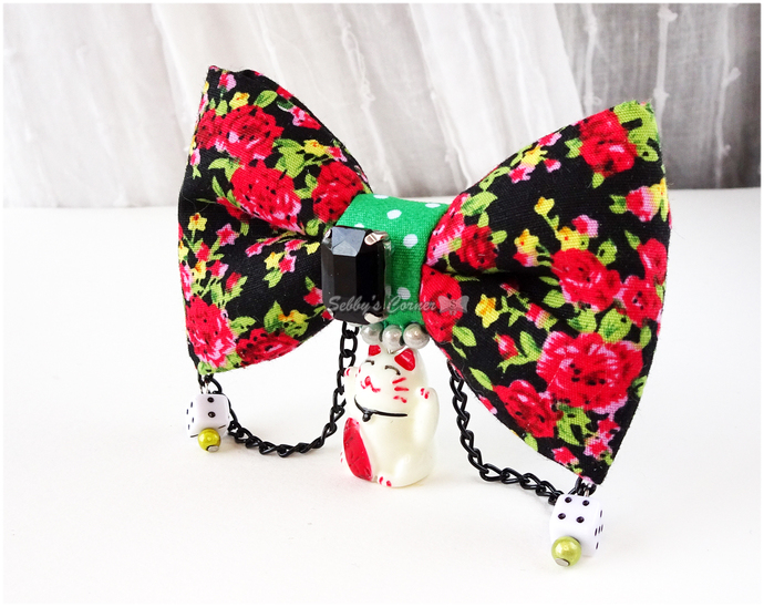 Maneki Neko Bow Tie for Cats, Lucky Cat, Cat Lovers Gifts, Pet Supplies, Photo