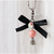 Pink Magic Crystal Ball Charm with Clip, Goth, Gothic Pet Accessories, Zipper