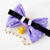 What the Duck Lilac Bow Tie with Bell, OOAK, Pet Fashionista, Bow Ties for Cats,