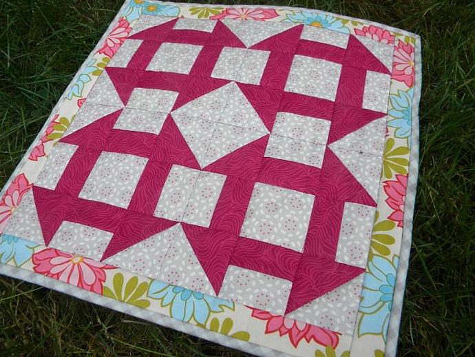 Churn Dash Mini Quilt