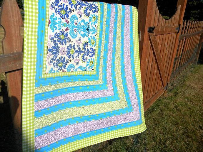 Bright Apex - baby quilt