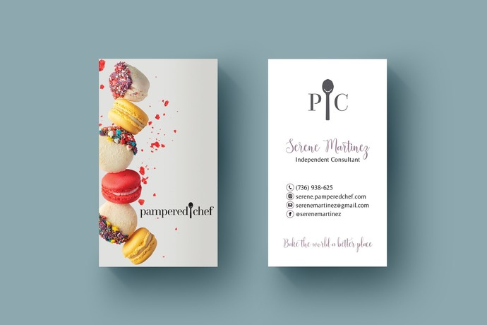Pampered Chef Cake business card, Personalized Pampered Chef Business Card PC01