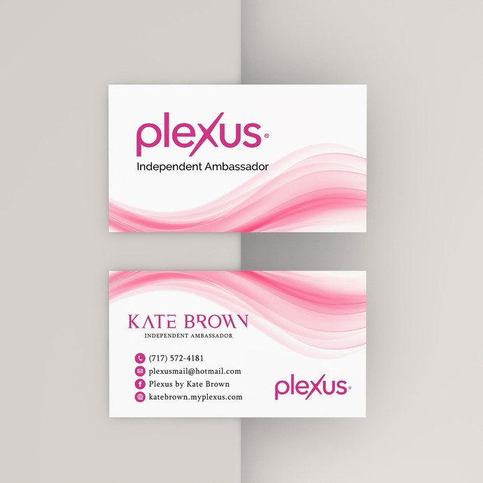 Pink Plexus Business Cards, Personalized Plexus Template PX03