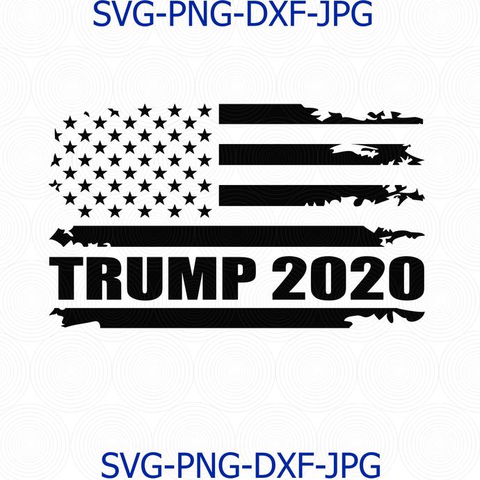 Trump 2020 American Flag Distressed Vintage By Digital4u On Zibbet