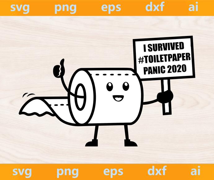 Copy of Toilet Paper Shortage Svg File, Toilet Paper Panic Svg, Toilet Paper