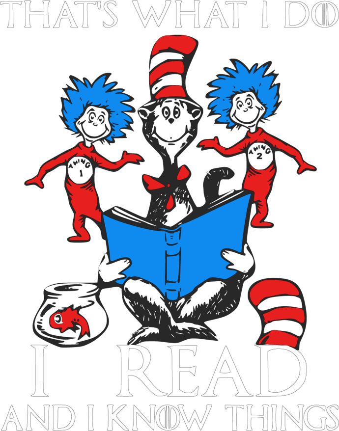 Bundle G. and Cat in the Hat SVG and PNG Files - Fan Art Clipart