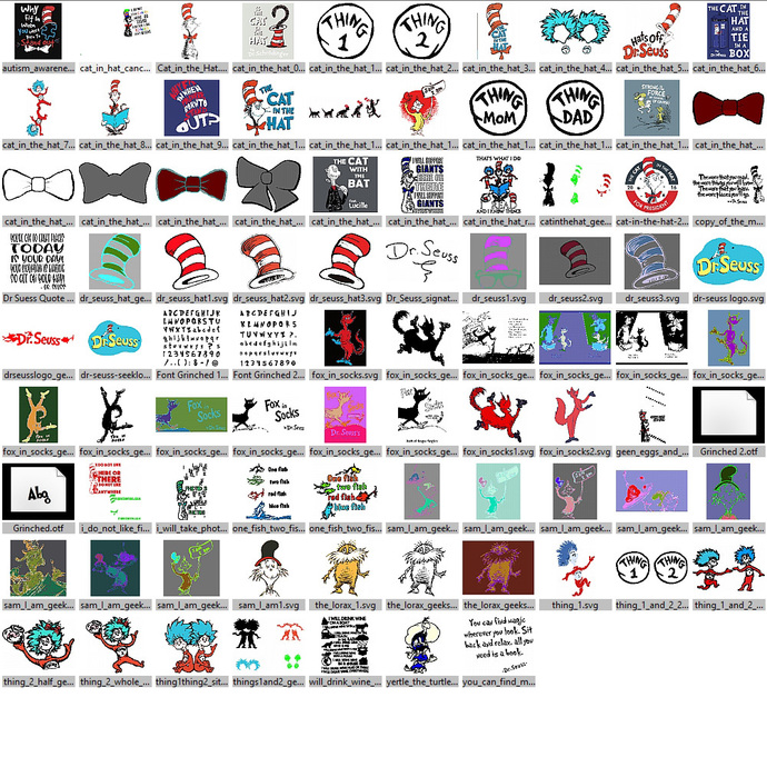 G. and Cat in the Hat Files for Cricut and Silhouette for Cutting