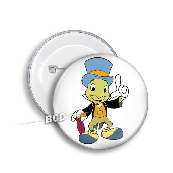 Jiminy Cricket BUTTON Pin Pinback Buttons Disney Badge Gift