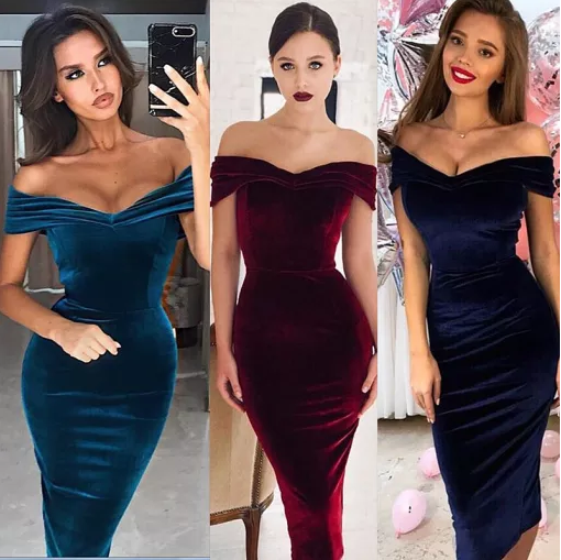 Chic and Sexy Sweetheart Velvet Party Dress 2701