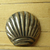 Shell Shape Signed MEXICO STERLING Button #1