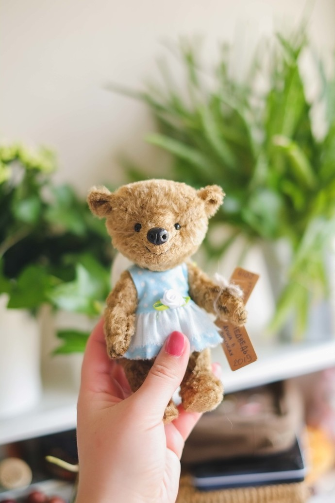 Traditionally handmade teddy bear - Inga - Zhenya's beautifully handmade unique