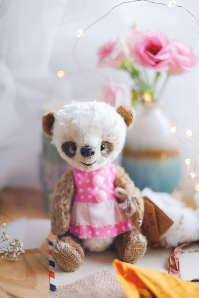 Traditionally handmade teddy bear - Kaia - Zhenya's beautifully handmade unique