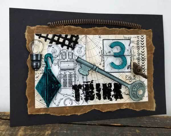 *NEW* Inventor's Mother - Emerald Creek Mixed Media Stamp