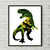 Park counted cross stitch pattern silhouette movie dinosaurs velociraptor animal