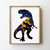 Dinosaur counted cross stitch pattern silhouette movie velociraptor animal trex