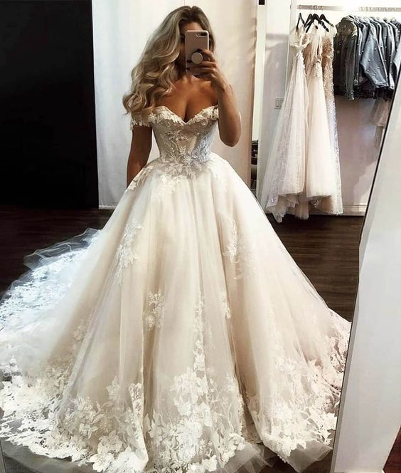 Ivory tulle lace long prom gown formal dress,prom dress