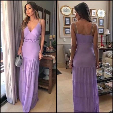 A-line V Neck Prom Dress, Long Prom dress , Sexy prom dress 2741