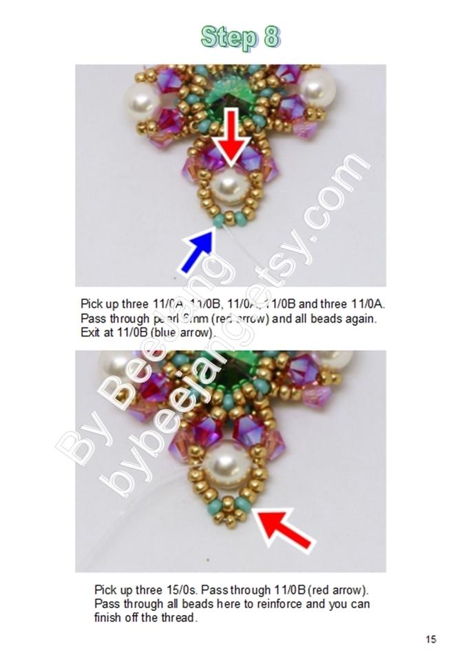 Beading Tutorial, Dazzling Tassel, Pendant Pattern, Charm, Bag Charm, PDF