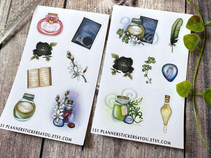 Magic Potion Stationary Stickers, Planner Stickers, Calendar Agenda, Parfume,