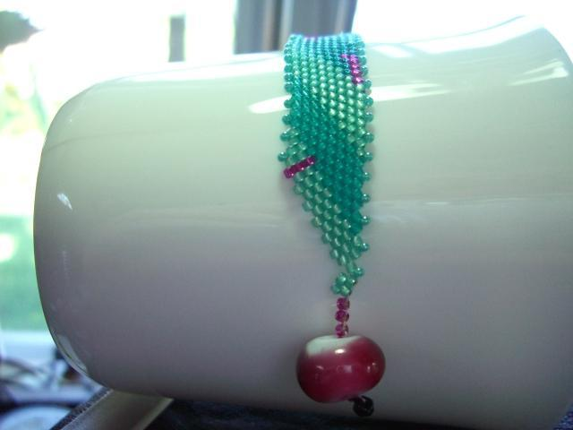 Tranquil Pleasures Glass Seed Bead Bracelet
