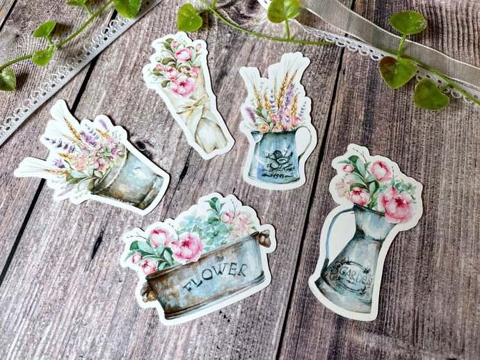 Hello Spring - Vintage Flowers Die Cut Set 001