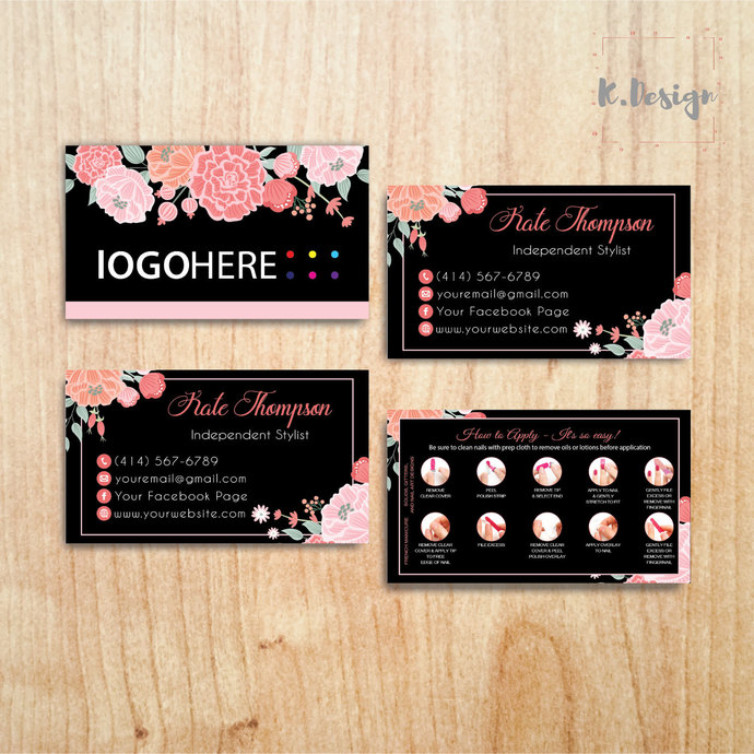 COLOR STREET BUSINESS CARDS, PERSONALIZED COLOR STREET APPLICATION CARDS CL35
