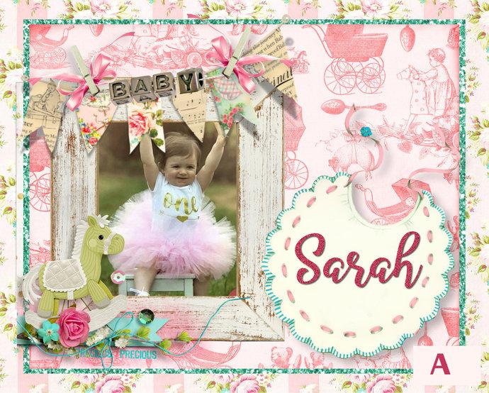 Baby Announcement Portrait, Baby Keepsake, Baby Christening Gift, Portrait