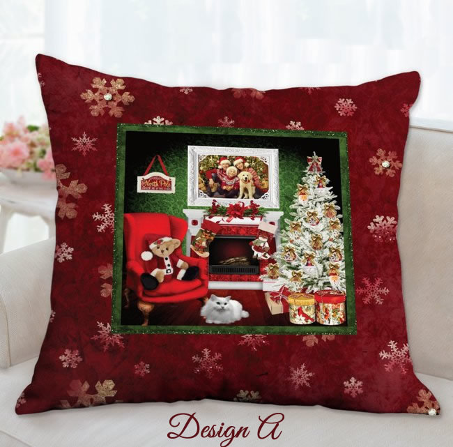 Christmas Keepsake Pillow, Family Christmas Photo, Christmas Memory Keepsake,