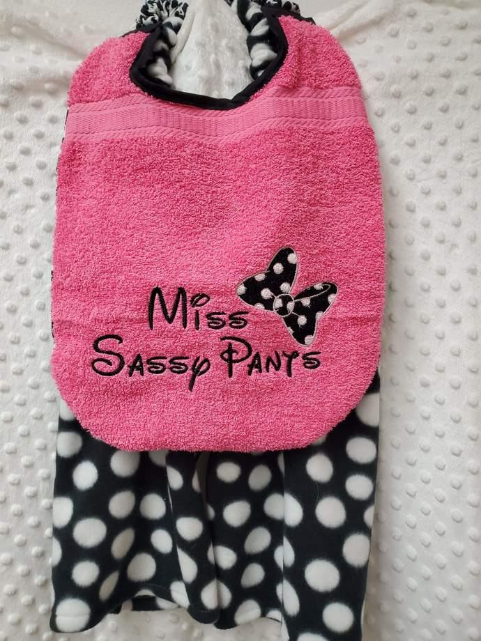 Miss Sassy Pants Bib