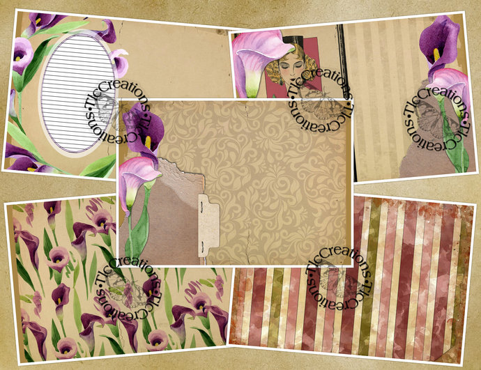 Calla Lily Spring Printable Junk Journal Kit
