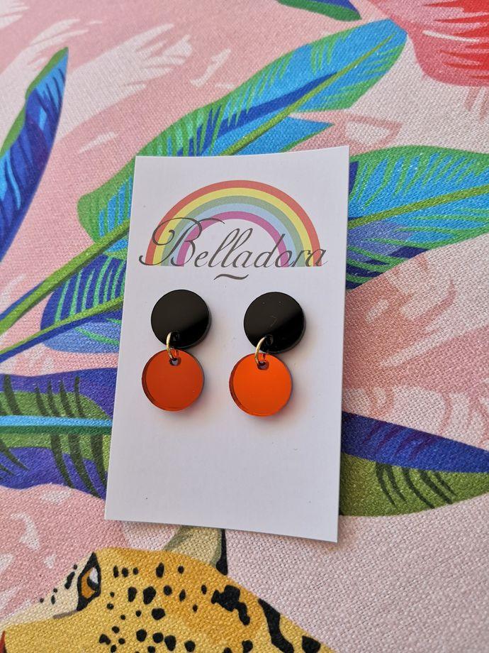 Itty Bitty - Black and Mirror Orange